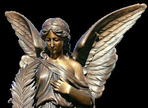 statue histoire ange bronze